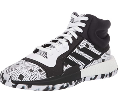 adidas basketball shoes black and white pattern