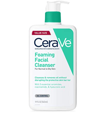 morning skin care routine cerave cleanser for oily skin